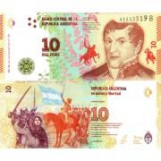 Аргентина бона (360) 10 песо 2016-2018