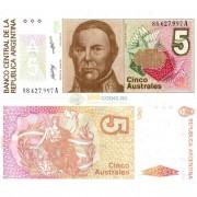 Аргентина бона (324) 5 аустрал 1986-89