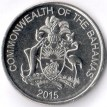 Багамские острова 2015 25 центов Парускник