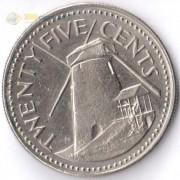 Барбадос 1973-2006 25 центов