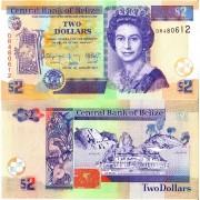 Белиз бона (066f) 2 доллара 2017