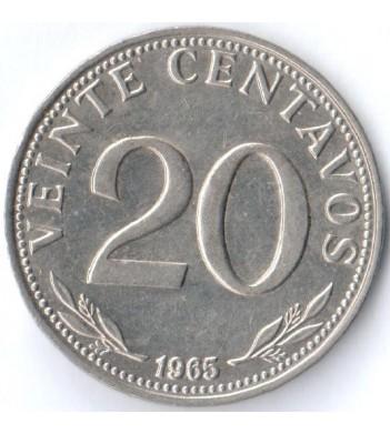 Боливия 1965-1973 20 сентаво