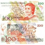 Бразилия бона (220) 100 новых крузадо 1989