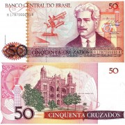 Бразилия бона (210) 50 крузадо 1986-1988
