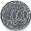 Бразилия 1992 5000 крузейро Тирадентис