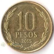 Чили 1990-2020 10 песо