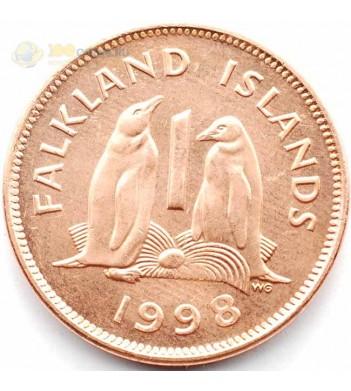 Фолклендские острова 1998 1 пенни Пингвины
