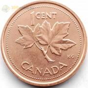 Канада 2002 1 цент 50 лет правления