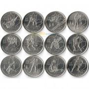 Канада набор 2007-2009 12 монет Ванкувер
