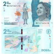 Колумбия бона (458) 2000 песо 2018