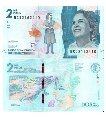 Колумбия бона 2000 песо 2018