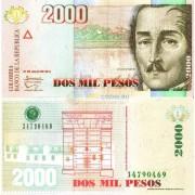 Колумбия бона 2000 песо 2014