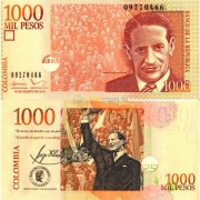 Колумбия бона 1000 песо 2015