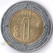 Мексика 1996-2019 1 песо