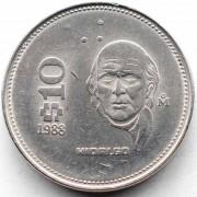 Мексика 1985-1990 10 песо Мигель Идальго