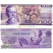 Мексика бона 100 песо 1974