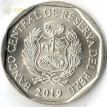 Монета Перу 2019 1 соль Андская кошка