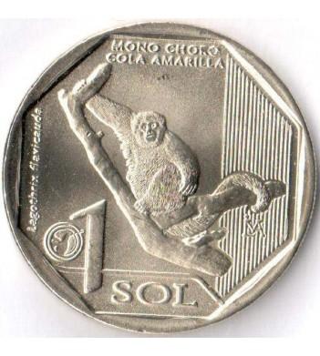 Монета Перу 2019 1 соль Желтохвостая обезьяна