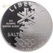 США 2002 1 доллар Олимпиада в Солт-Лейк-Сити (proof)