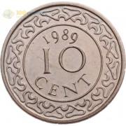 Суринам 1987-2017 10 центов