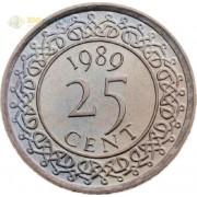Суринам 1987-2017 25 центов