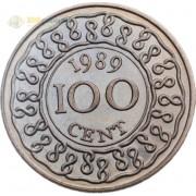 Суринам 1987-2017 100 центов
