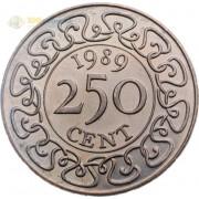 Суринам 1987-2017 250 центов
