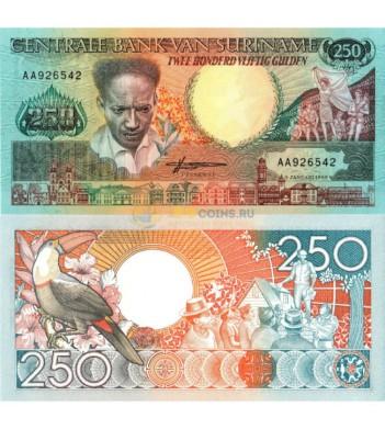 Суринам бона 250 гульденов 1988