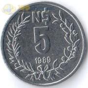 Уругвай 1989 5 песо