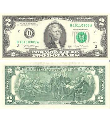 США бона 2 доллара 2017 UNC
