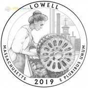 США 2019 Квотер №46 парк Лоуэлл (S)