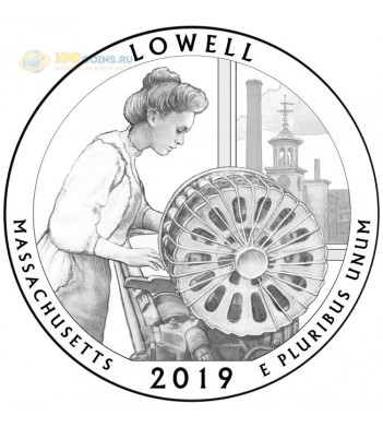 Монета США 25 центов 2019 квотер №46 Национальный парк Лоуэлл (P)