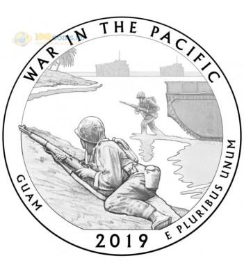 Монета США 25 центов 2019 квотер №48 Монумент воинской доблести (S)