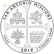 США 2019 Квотер №49 Парк Сан-Антонио (P)