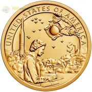 США 2019 1 доллар Сакагавея Индейцы в космосе №12 (D)