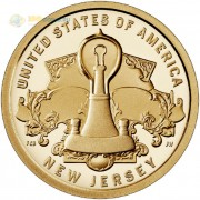 США 2019 1 доллар Инновации Лампочка (P) №4