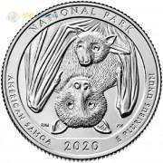 США 2020 Квотер №51 Американское Самоа (S)