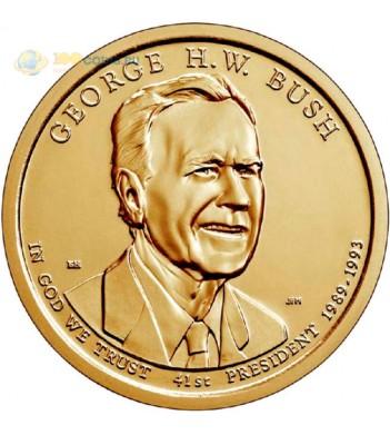США 2020 1 доллар Президенты Джордж Герберт Уокер Буш №41 (D)