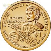 США 2020 1 доллар Сакагавея Антидискриминация №13 (P)