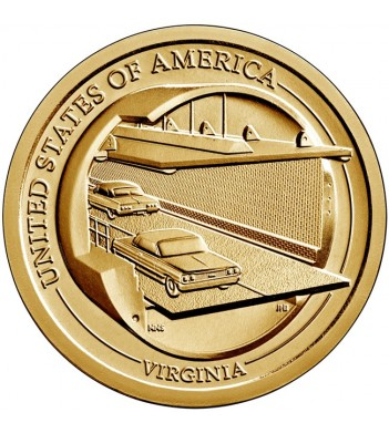 США 2021 1 доллар Инновации Мост-тоннель (D) №11