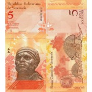 Венесуэла бона (89c) 5 боливар 2008