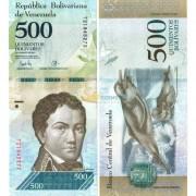 Венесуэла бона 500 боливар 2017