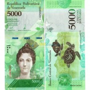 Венесуэла бона (97c) 5000 боливар 2017