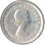 Австралия 1961 6 пенсов (серебро)
