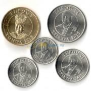 Тонга набор 5 монет 2015