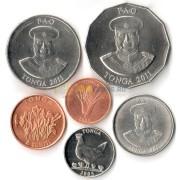 Тонга набор 6 монет 1981-2011 ФАО
