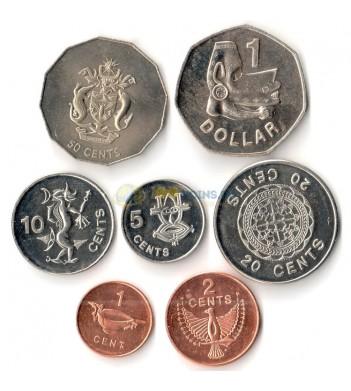 Соломоновы острова 2005 набор 7 монет