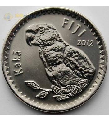 Фиджи 2012 20 центов Попугай кака