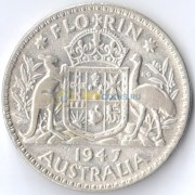 Австралия 1947 1 флорин (серебро)
