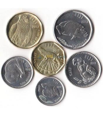 Фиджи 2012 набор 6 монет Животные